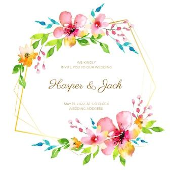 エレガントな花の結婚式のフレーム