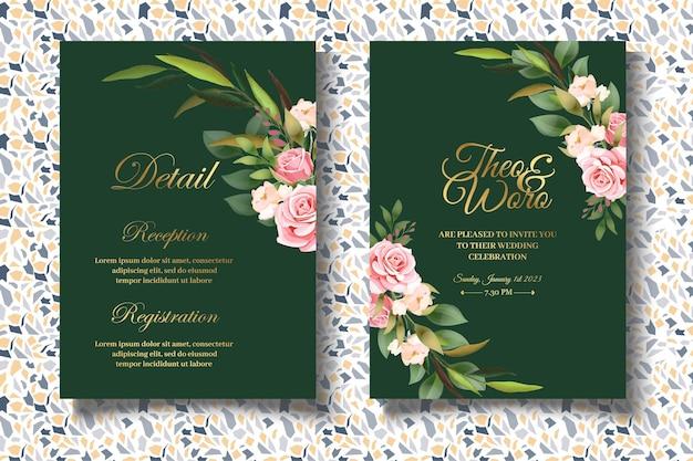 Элегантный цветочный набор свадебных приглашений