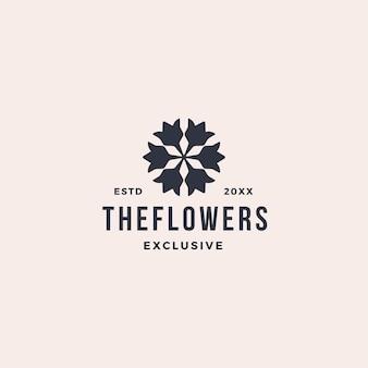 Элегантный цветок лист орнамент логотип значок