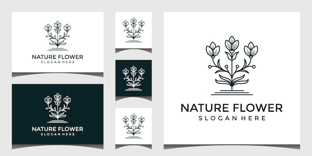 Elegant flower logo design