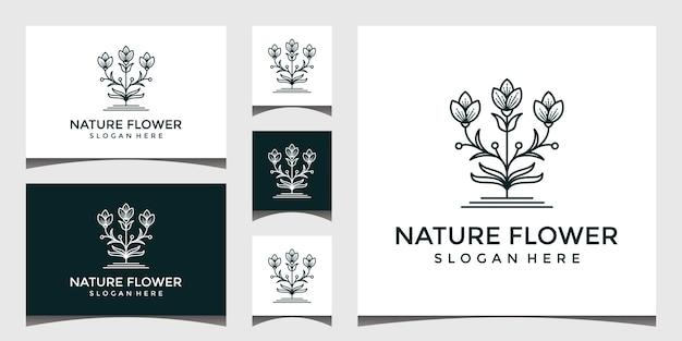 エレガントな花のロゴのデザイン