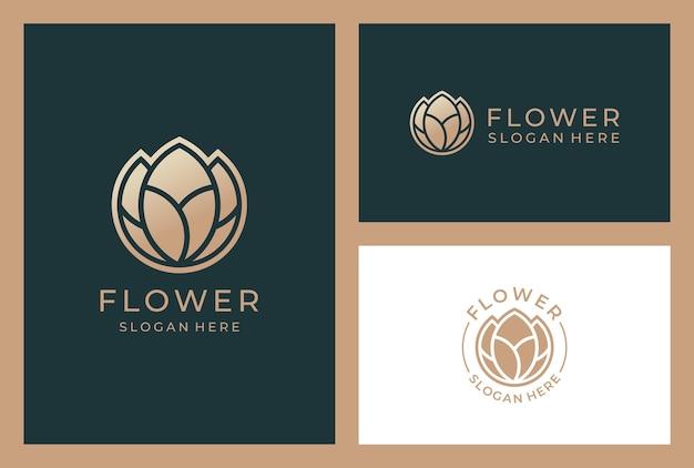 Элегантный цветочный логотип