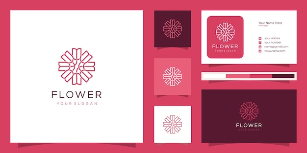 Elegant flower rose luxury beauty salon, fashion, skincare, cosmetic, yoga and spa products