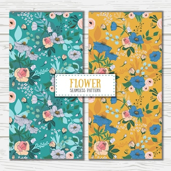 Elegant flower seamless pattern