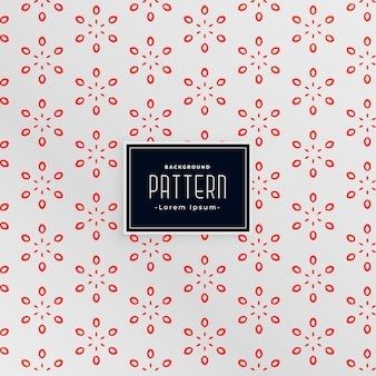 Elegant flower style white and red pattern design