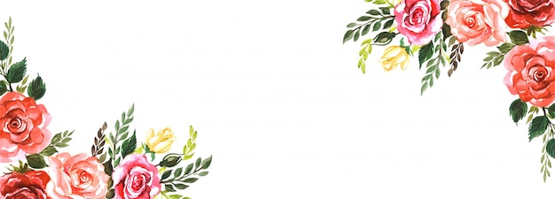 Elegant flowers creative banner background