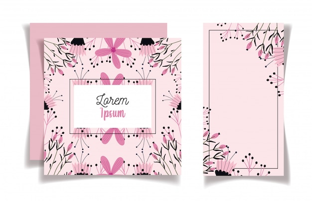 Elegant flowers floral wedding cards ornament