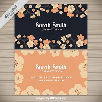 Elegant flowery corporative card