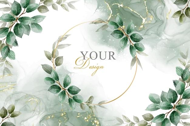 Элегантная листва рамы дизайн фона