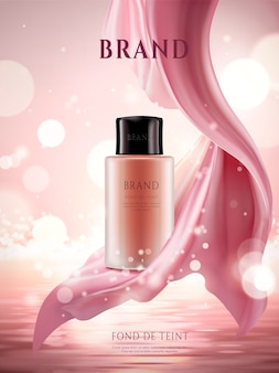 Elegant foundation ads illustration