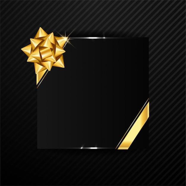 Elegant frame background with golden ribbon