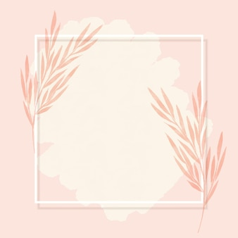 Elegant frame background with hand painted watercolour floral design