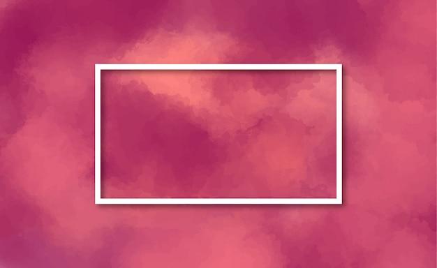 Элегантная рамка в бордовом акварельном фоне