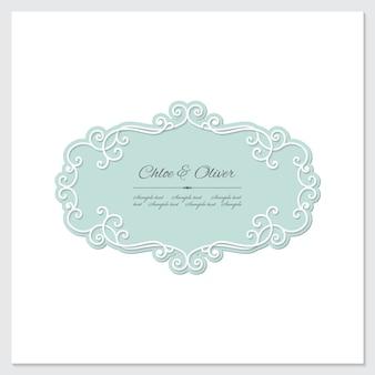 Elegant frame isolated on white
