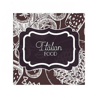 Elegant frame victorian with italian food