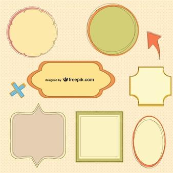 Вектор рамки ретро-дизайн