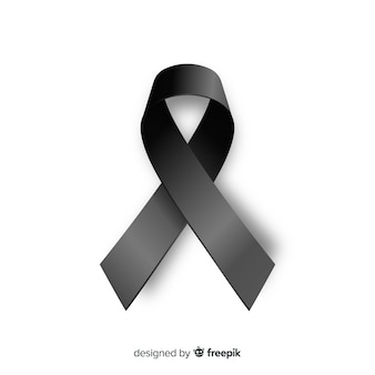 Elegant funeral ribbon with realistic design