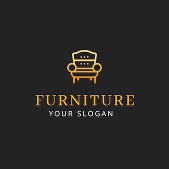 Концепция логотипа элегантной мебели