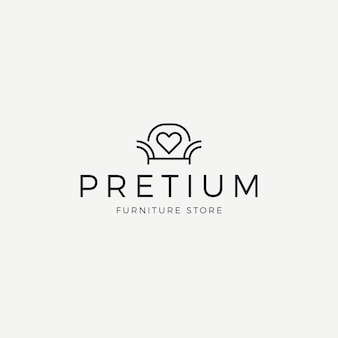 Elegant furniture logo for store
