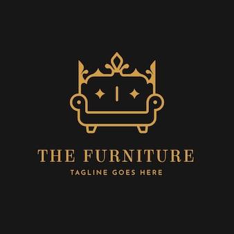 Elegant furniture logo template