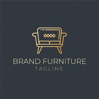 Шаблон логотипа элегантная мебель