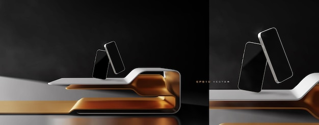 Elegant futuristic stand or placement scene for product presentation