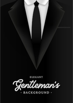 Elegant gentleman's background with business man suite