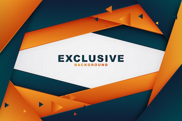 Elegant geometric blue and orange business background