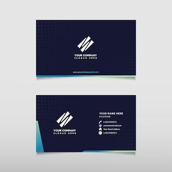 Elegant geometric business card