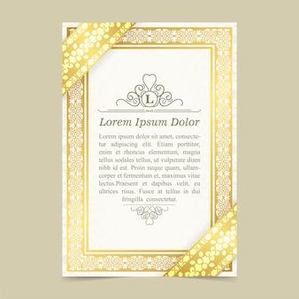 Elegant geometric flyer template text design