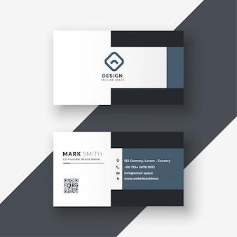 Elegant geometric gray business card