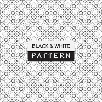 Элегантный геометрический узор с черным и белым цветом