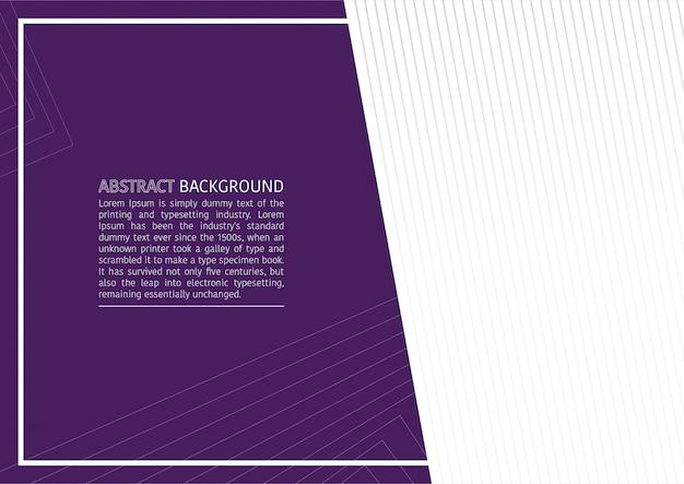 Elegant geometric purple business background