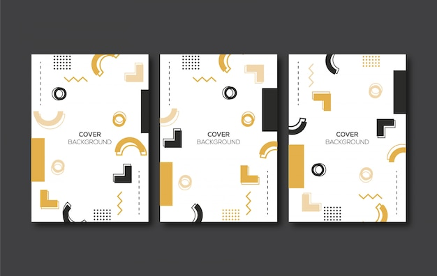 Elegant geometric soft cover background
