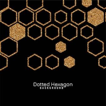 Elegant glitters hexagon