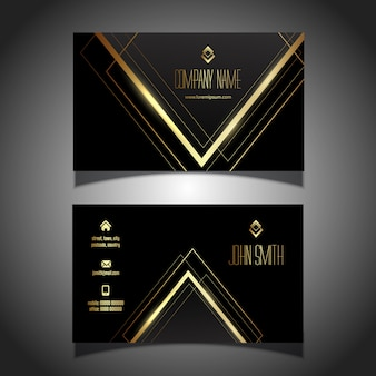 Elegant gold and black business card design