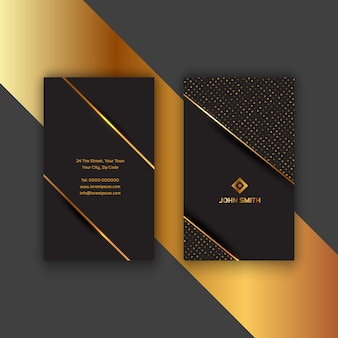 Elegant gold and black business card