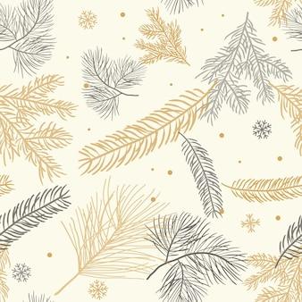Элегантный золотой черный рождественский бесшовный фон