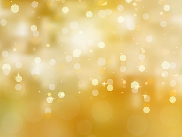 Элегантный золотой новогодний фон.