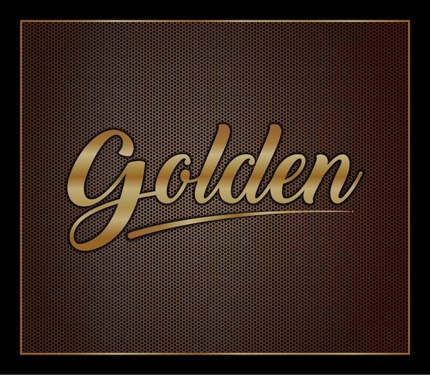 Elegant gold colored metal strong bold 3d modern text style effect alphabet font set
