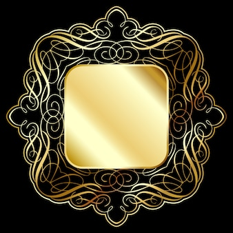 Elegant gold frame background