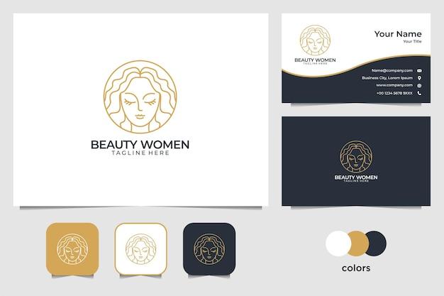 エレガントなゴールドの自然のロゴのデザインと名刺テンプレート