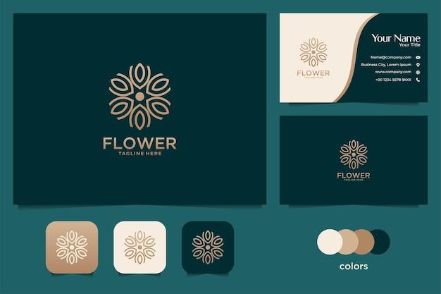 Elegant gold nature logo design and business card template
