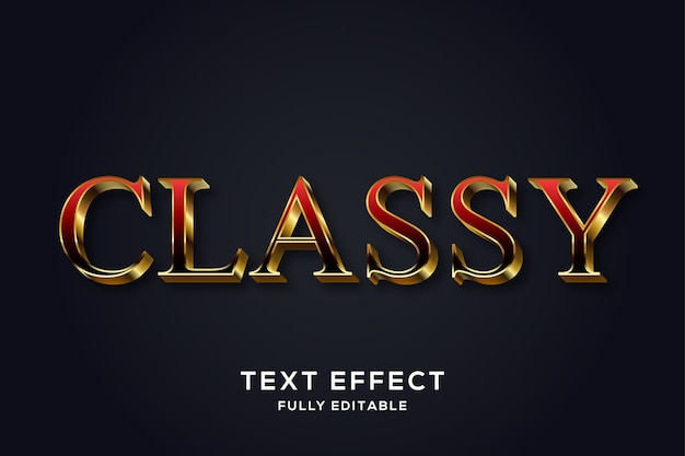 Elegant gold & red text effect