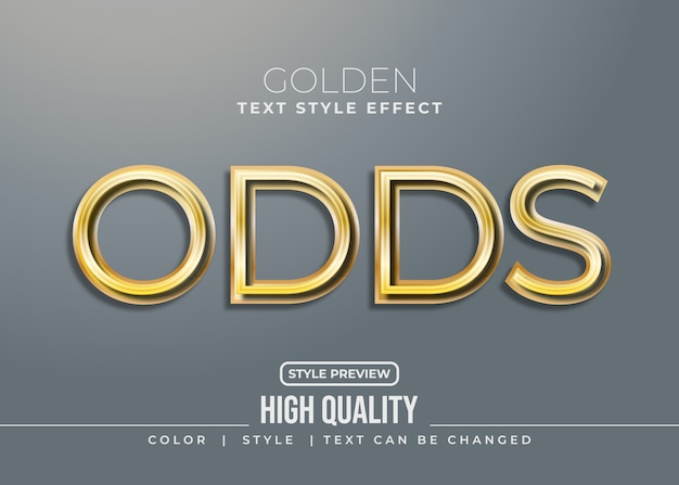 Elegant gold text style with realistic effect and shadow