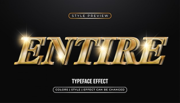 Elegant gold text  with 3d effect