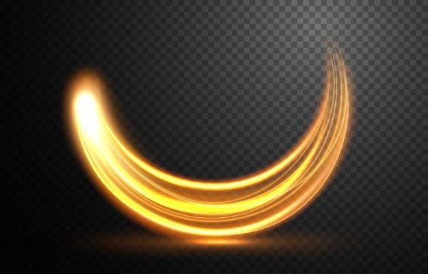 Элегантная золотая волнистая линия света с прозрачным узором векторная иллюстрация