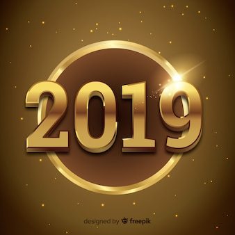 Elegant golden 2019 background