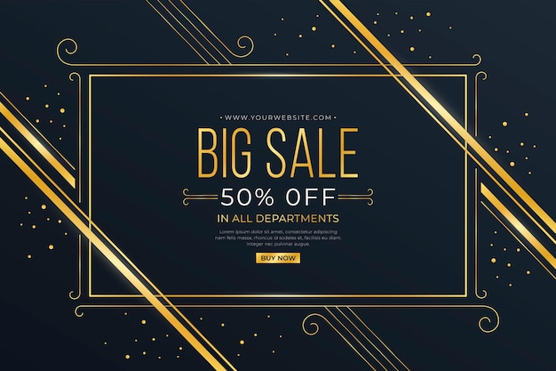 Elegant golden big sale background