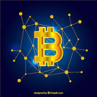 Elegant golden bitcoin design